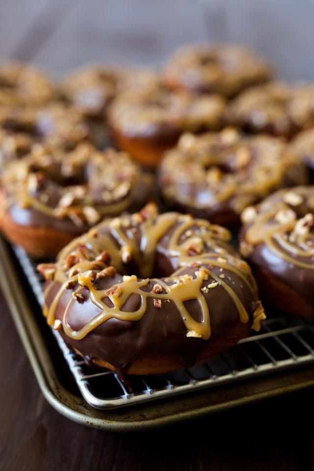 Chocolate-Caramel-Pecan-Doughnuts-2-Barbara-Bakes